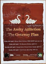 AMITY AFFLICTION Getaway Plan 2006 Australian TOUR POSTER 45x32cm Music Concert