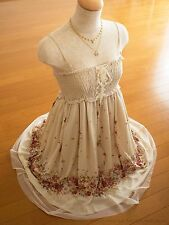 Butterfly Floral Elegant Cami Dress axes femme Lace-up Classical Lolita Kawaii