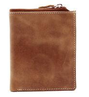 RFID Proof Mens Designer TOPSUM Genuine Top Grain Leather Wallet Purse 4018 Tan