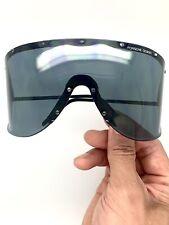 VINTAGE Porsche Carrera 5620 90 Rare BLACK Wrap Shield Sunglasses, with O.G Sack