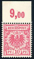 DR 1893, MiNr. 47 da, tadellos postfrisch, gepr. Petry, Mi. 150,-