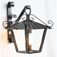 Lanterna lampione da esterno in ferro battuto con vetri braccio da parete 21 cm
