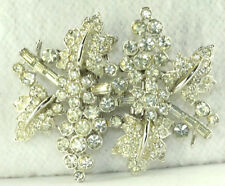 VTG VENDOME DUETTE STYLE  RHINESTONE DRESS FUR CLIPS