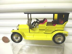 Lesney Matchbox Models of YESTERYEAR Y5 YELLOW 1907 PEUGEOT Pale Amber Wins MIB