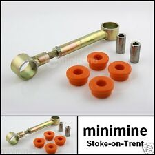 Classic Mini Réglable Moteur Steady Bar Kit Avec Orange Polyflex buissons Austin