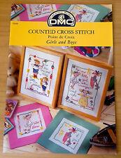 DMC Cross stitch pattern booklet Girls & Boys
