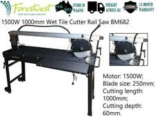 1500W 1000mm Wet Tile Saw Stone Saw Rail Cutter Double Table  Wet Tile Cutter