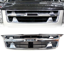 Fit Isuzu D-Max 2007-2011 Front Chrome Black Grill Grille Rodeo Pickup