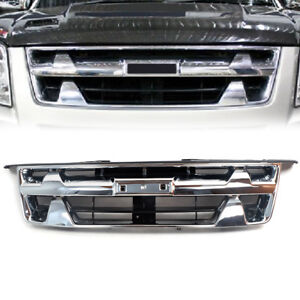 For Isuzu D-Max 2007-2011 Front Chrome Black Grill Grille Rodeo Pickup
