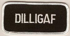 "Patch ""D I L L I G A F"" embroidered sew on emblem PPL9064"
