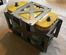 Optima D31A Battery Box Tray Blue top Heavy duty offroad - Stainless Steel