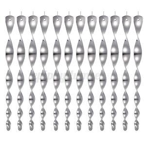 12er Set Windspirale Vogelabwehr Reflektierend Vogelschreck Spirale Windspiel
