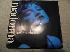 MADONNA   OPEN YOUR HEART     7 INCH   WITH PICTURE SLEEVE      481