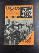 Words Record Song Book Magazine: 1st February 1972 - Mountain, Faces
