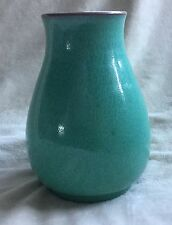 BEAUTIFUL POOLE CHINESE GREEN GLAZE VASE C:1970-1999 VERY VERY GOOD CONDITION