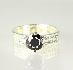 Beautiful Design 3.56 Ct Black Diamond Solitaire Halo Men's Proposal Ring