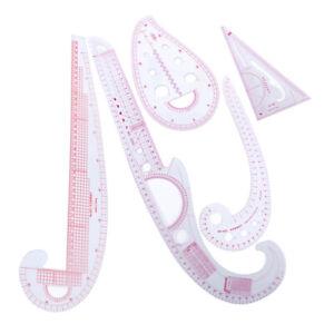 5Pcs/set French Measure Tool Curve Metric Ruler fit for Dressmaking Design