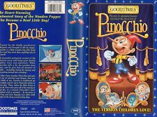 PINOCCHIO - Goodtimes - VHS - NTSC - NEW - Never played! - Original USA release