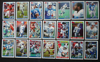 1991 Topps Detroit Lions Team Set of 21 Football Cards