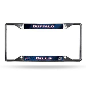 Buffalo Bills NFL Chrome EZ View 4 corner License Plate Frame