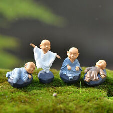 12x Miniature Monk Dollhouse Bonsai Fairy Garden Landscape Home Decor