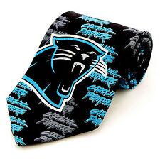 Carolina Panthers Football Mens Necktie NFL Sports Logo Silk Fan Gift Tie New
