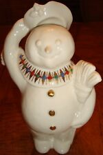 Lenox Vintage Jeweled Snowman with Hat and Broom - Heavy Mint with Original Tag