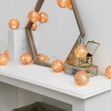 Cotton Balls Rope/Wire Metal Fairy Lights