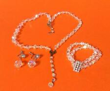 Estate Find Aurora Borealis Multi Strand Choker Necklace + Bracelet & Earrings