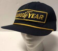 Vintage Goodyear #1 Racing Gold Rope SnapBack Hat