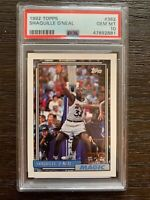 1992-93 Topps Shaquille O'Neal Rookie #362 PSA 10 Gem Mint Shaq Oneal RC Magic