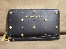 Michael Kors Jet Set Large Flat MF Phone Case (Black) - NWT