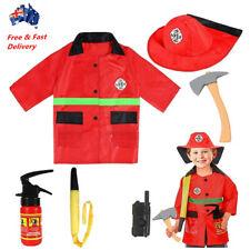 Children Fire Fighter Costume & Accessory Kit Pretend Play Kids Fireman Dress Up