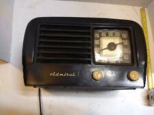 Vintage ADMIRAL 7T10E-N Bakelite Tube Radio