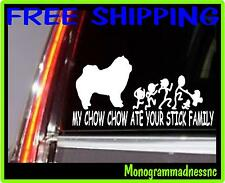 MY CHOW CHOW ATE YOUR STICK FAMILY VINYL DECAL STICKER CAR TRUCK