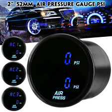 "2"" 52mm Car PSI Air Pressure Gauge LED Dual Digital Display Air Ride Gauge 12V"