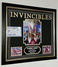 Thierry Henry of Arsenal Signed Photo Picture INVINCIBLES Autograph Display