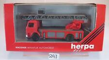 HERPA 1/87 scania 112h camions Drehleiter pompiers OVP #5047