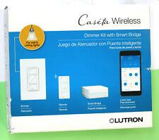 Lutron Caseta Wireless Dimmer Kit Smart Bridge Remote P-BDG-PKG1W