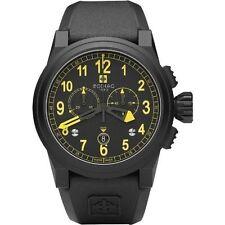 Zodiac Zmx-04 Men's Avaitor Black Yellow Watch ZO8528