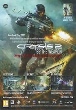 Crysis 2 Be The Weapon 2011 Magazine Advert #4383
