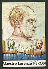 ITALIA MK 1972 PEROSI KOMPONIST COMPOSER MAXIMUMKARTE MAXIMUM CARD MC CM d186