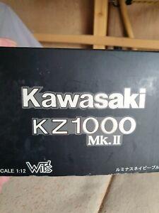 WOW EXTREMELY RARE Kawasaki z1000 mk11 Blue 1:12 Wit's-Minichamps