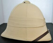 New British Tan Color  African Boer War Genuine Pith Sun Helmet
