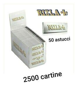 2500 CARTINE CORTE RIZLA ARGENTO SILVER  GRIGIO  50 LIBRETTI DA 50 Cartine