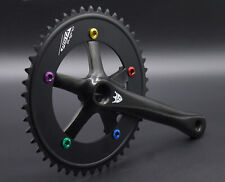 SUGINO Pista Kurbel Fixi Fixed Singlespeed black Crankset COLOR EDITION NEW