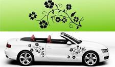 F2 2x Floreale Fiore Vinile Auto grafiche Adesivi Decalcomanie BIG molti colori