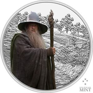 2021 Niue Lord of the Rings Gandalf the Gray 1 oz Silver Proof Coin - 3,000 Made