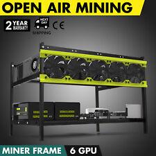 Open Air Mining Rig Case Rack Miner Frame For Ethereum 6 GPU ETH BTC