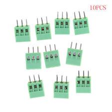 10pcs 3 Poles KF128 2.54mm PCB Universal Screw Terminal Block